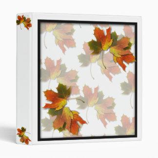 Orange & Yellow  Fall Leaves Vinyl Binder
