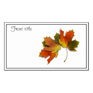 Orange & Yellow  Fall Leaves Business Cards