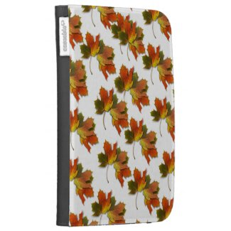 Orange & Yellow Fall Leaves Cases For The Kindle