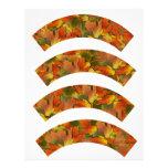 Orange & Yellow  Fall Leaves Cupcake Liners Letterhead