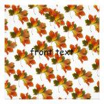 Orange & Yellow  Fall Leaves Custom Announcement