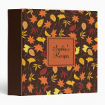 Orange Yellow Fall Leaves Custom Recipe Binder