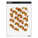 Orange & Yellow  Fall Leaves iPad 3 Skin