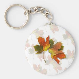 Orange & Yellow  Fall Leaves Keychains