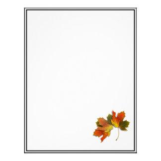 Orange & Yellow  Fall Leaves Custom Letterhead