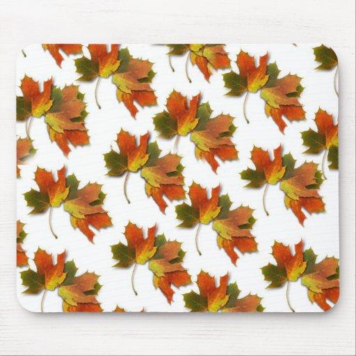 Orange & Yellow  Fall Leaves Mousepads
