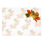 Orange & Yellow  Fall Leaves Personalized Invite