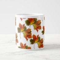Orange & Yellow  Fall Leaves 20 Oz Large Ceramic Coffee Mug