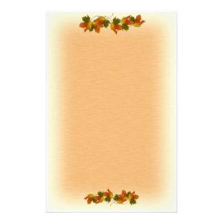 Orange Yellow Fall Leaves Custom Stationery