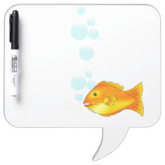 Orange & Yellow Fish Quote Bubble Dry Erase Board