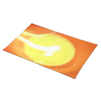 Orange Yellow Flame Candle Light, Art Cloth Placemat