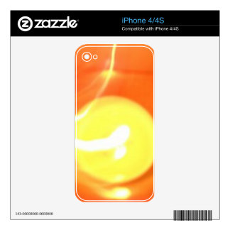 Orange Yellow Flame Candle Light, Art Decals For iPhone 4