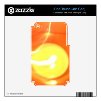 Orange Yellow Flame Candle Light, Art Decals For iPod Touch 4G