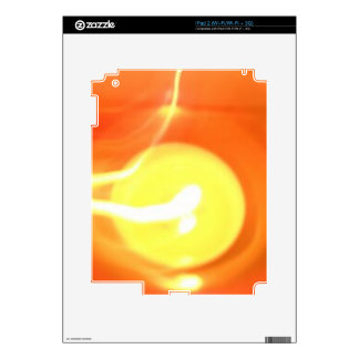 Orange Yellow Flame Candle Light, Art Decals For The iPad 2