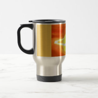 Orange Yellow Flame Candle Light, Art Travel Mug
