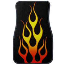 Orange Yellow Flame Graphics Car Floor Mat