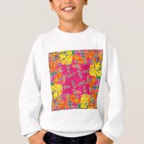 Orange-yellow Floral Pattern Gifts By Sharles Sweatshirt