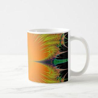 Orange Yellow Flower Fractal Art Gifts Coffee Mug