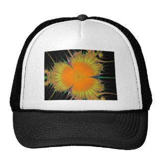 Orange Yellow Flower Fractal Art Gifts Trucker Hat