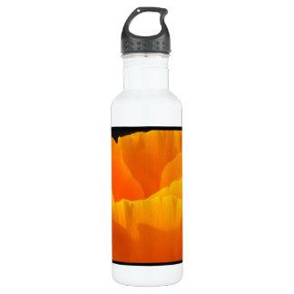 Orange Yellow Flower Water Bottle