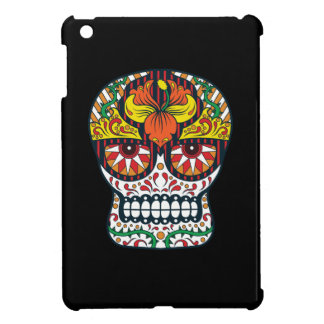 Orange Yellow Flowers Mexican Sugar Skull Cover For The iPad Mini