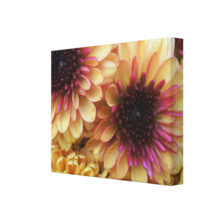Orange & Yellow Flowers Wrapped Canvas Gallery Wrapped Canvas