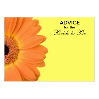 Orange & Yellow Gerber Daisy Advice for the Bride Large Business Card