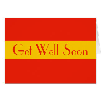 orange yellow get well soon card