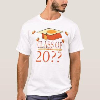 Orange Yellow Graduation Hat Class of Year T-Shirt