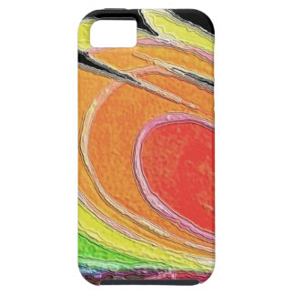 Orange Yellow Green Spirals Vibe iPhone 5 Case