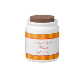 Orange & Yellow Jar or Cannister Wedding Gift Candy Jars