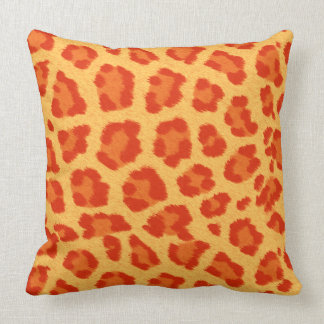 Orange & Yellow Leopard Print Pillows