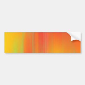 Orange & Yellow Motion Blur: Car Bumper Sticker