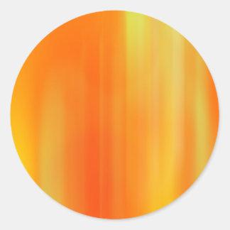 Orange & Yellow Motion Blur: Classic Round Sticker