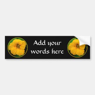 Orange-Yellow Nasturtium Bumper Sticker