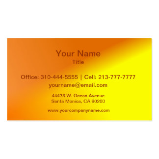 Orange Yellow Ombre Business Card