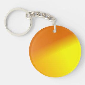 Orange Yellow Ombre Keychain