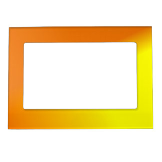 Orange Yellow Ombre Magnetic Frame
