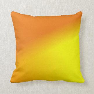 Orange Yellow Ombre Throw Pillow
