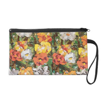 Orange & Yellow Paper Flowers purse