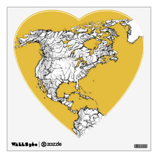 Orange yellow planet wall decal