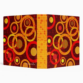 Orange Yellow Red Mosaic Circle Avery Binder