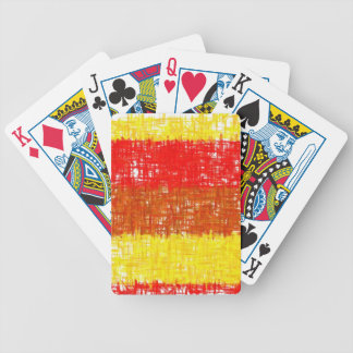 Orange Yellow Red Retro Abstract Painting Bicycle Playing Cards