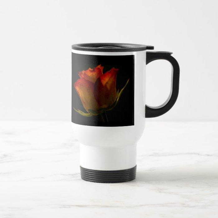 Orange & Yellow Rose Travel Mug