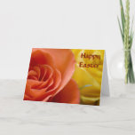 Orange & Yellow Roses Easter Card