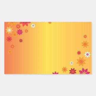 Orange Yellow Spring Flowers Rectangular Sticker