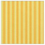 [ Thumbnail: Orange & Yellow Stripes/Lines Pattern Fabric ]