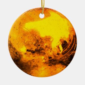 Orange Yellow Sun Ornament