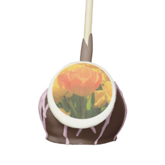 Orange yellow tulips by Thespringgarden Cake Pops