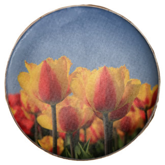 Orange yellow tulips by Thespringgarden Chocolate Dipped Oreo